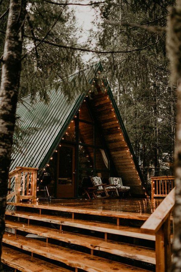 одноэтажный дом в стиле шале фото