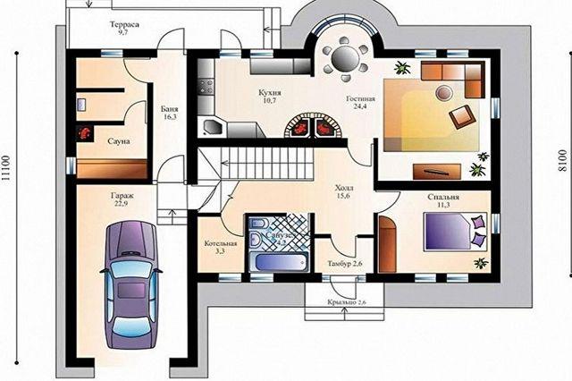 проекты домов в стиле шале пример