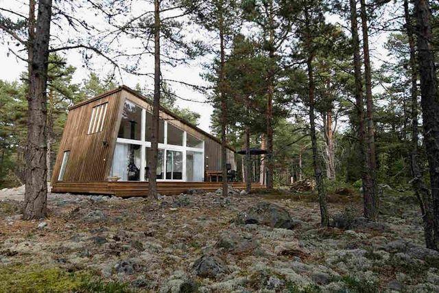 скандинавский дом в стиле шале