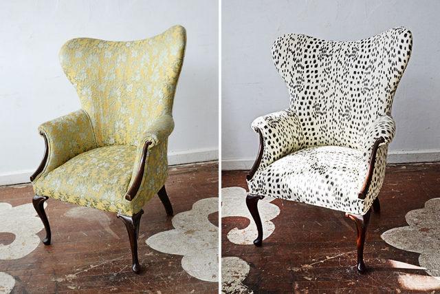удачная реставрация старинного кресла