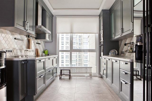 кухня в серых тонах фото пример