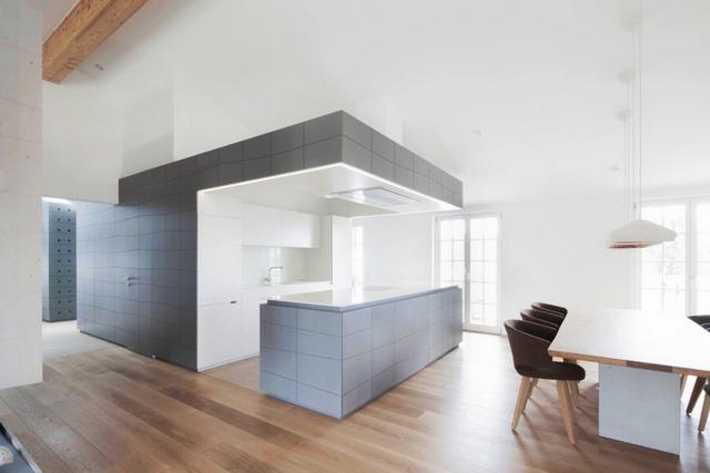 кухня в серых тонах минимализм