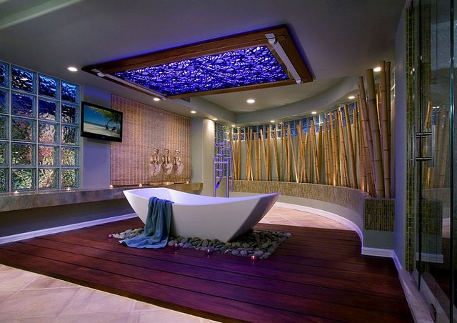 бамбук в интерьере ванной идеи