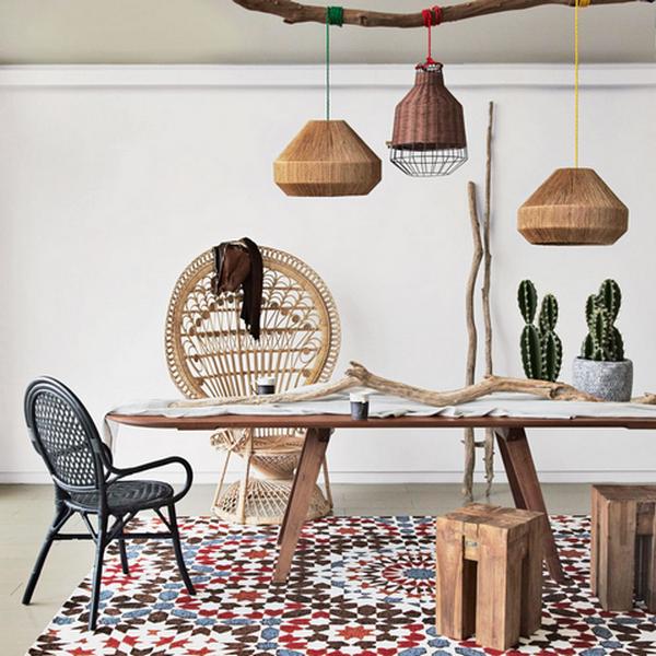 мебель бамбук в интерьере