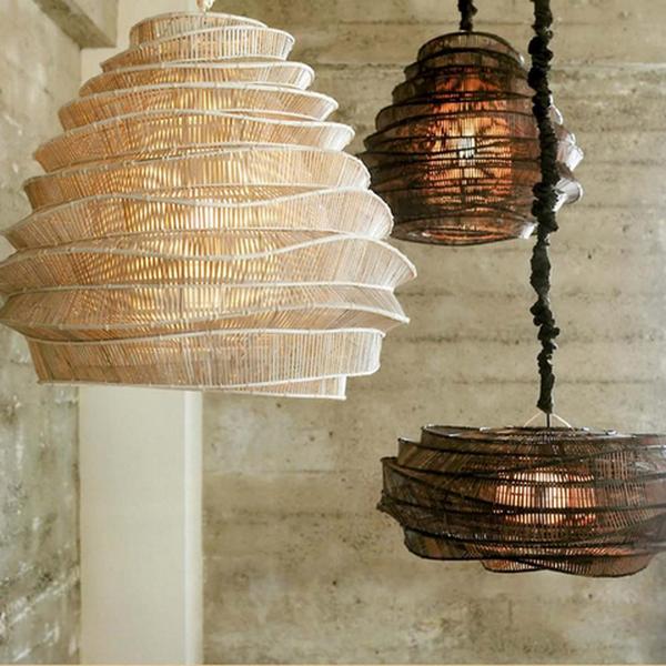 плафоны бамбук в интерьере