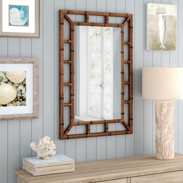 зеркало бамбук в интерьере