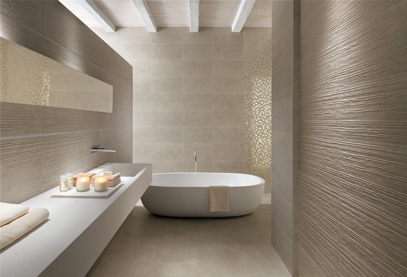Ванная комната в бежевом стиле